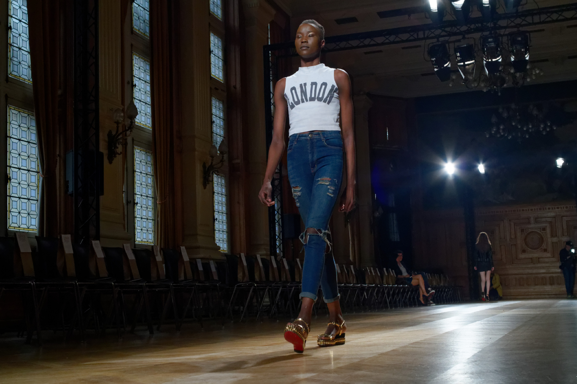 catwalk rehearsal for YDE SS16 show